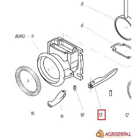 N.13. Palanca para BURU-125/150