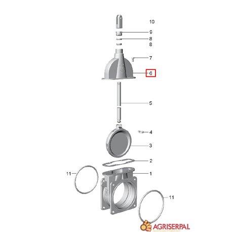 N. 6 Cuerpo superior tajadera doble brida