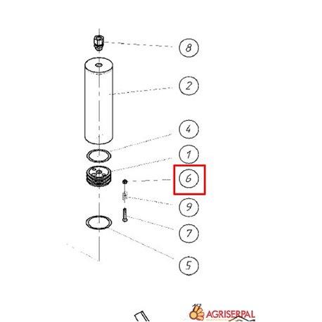 N. 6 Tuerca M-6 para cilindro hidráulico