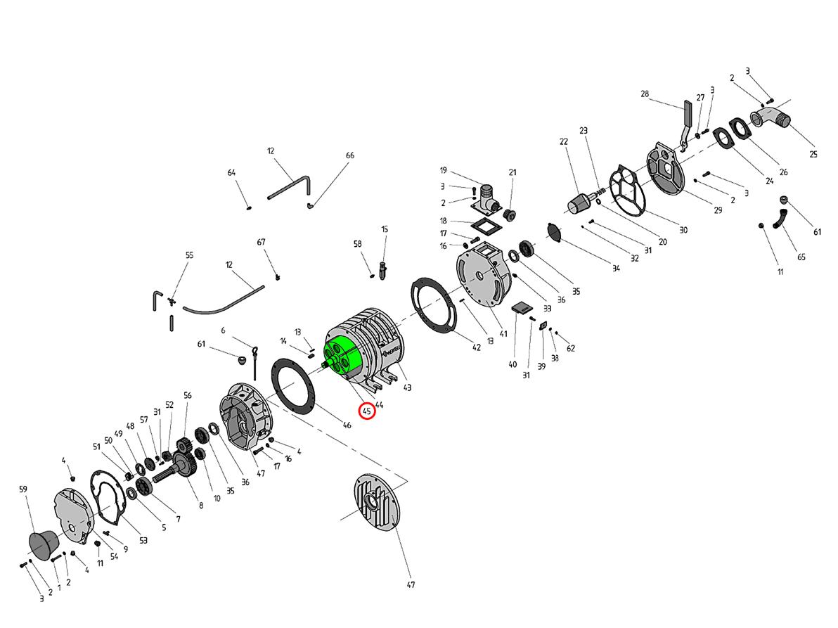 Rotor para depresores KD